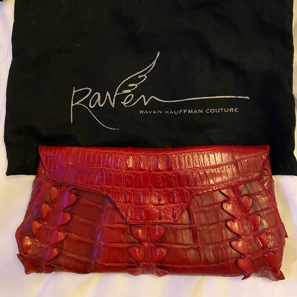 Raven Kauffman Handbags - Raven Kauffman Vegan Mock Croc Clutch